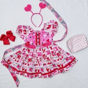 Jelly the Pug Love Letters Collection Kassie Dress